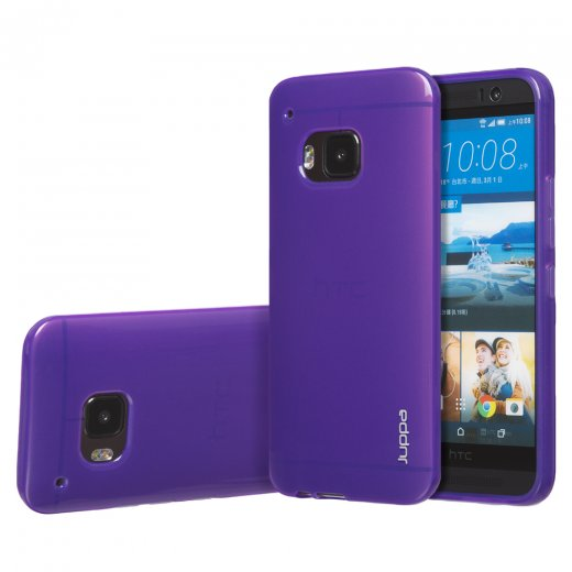 "Juppa TPU Gel Case for HTC One M9 5.0"" Purple"