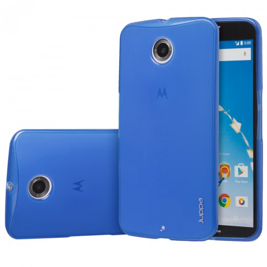 Juppa TPU Gel Case for Motorola Google Nexus 6 Blue