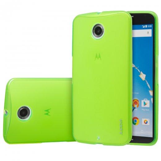 Juppa TPU Gel Case for Motorola Google Nexus 6 Green