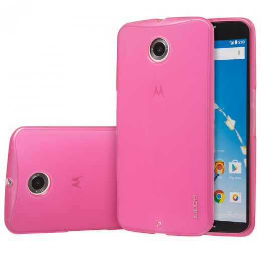 Juppa TPU Gel Case for Motorola Google Nexus 6 Pink