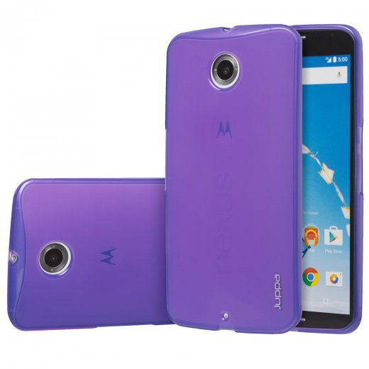 Juppa TPU Gel Case for Motorola Google Nexus 6 Purple