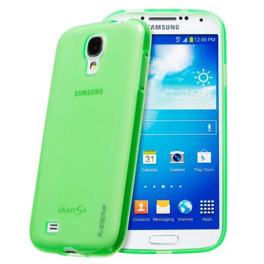 Juppa TPU Gel Case for Samsung Galaxy S4 Green