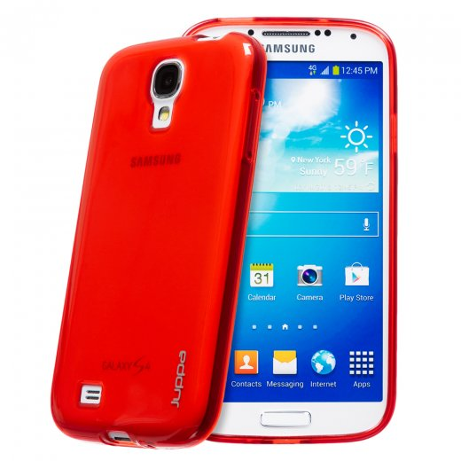 Juppa TPU Gel Case for Samsung Galaxy S4 Red