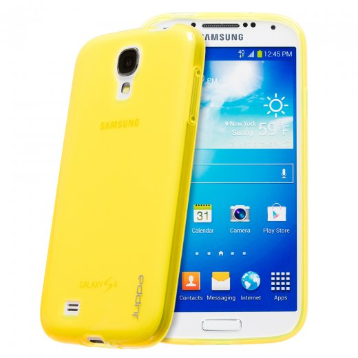 Juppa TPU Gel Case for Samsung Galaxy S4 Yellow