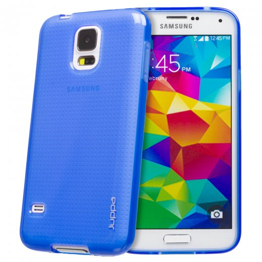 Juppa TPU Gel Case for Samsung Galaxy S5 Blue