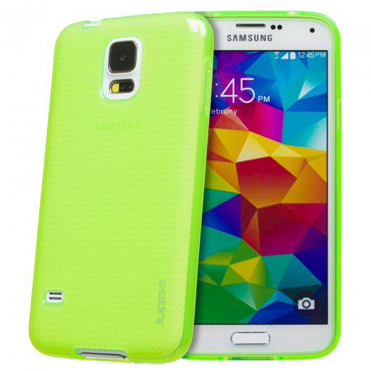 Juppa TPU Gel Case for Samsung Galaxy S5 Green