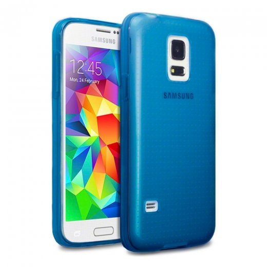 Juppa TPU Gel Case for Samsung Galaxy S5 Mini Blue