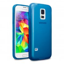 TPU Gel Case for Samsung Galaxy S5 Mini Blue