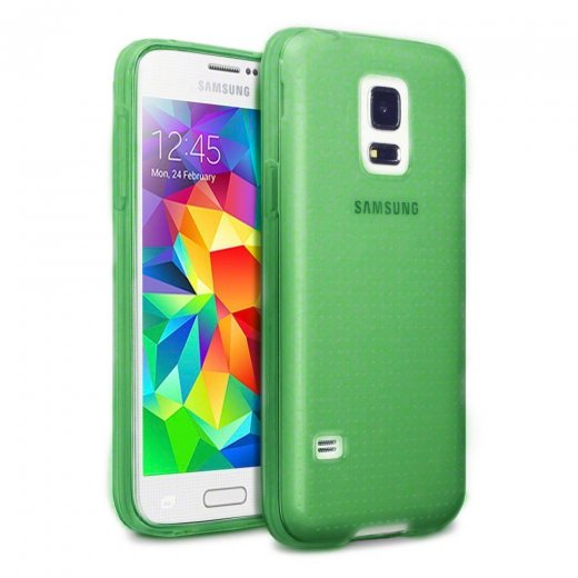 Juppa TPU Gel Case for Samsung Galaxy S5 Mini Green
