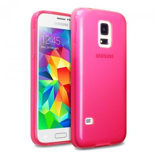 Juppa TPU Gel Case for Samsung Galaxy S5 Mini Pink