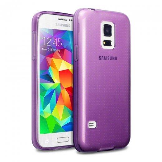 Juppa TPU Gel Case for Samsung Galaxy S5 Mini Purple