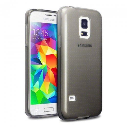 Juppa TPU Gel Case for Samsung Galaxy S5 Mini Smoke