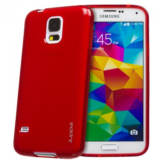 Juppa TPU Gel Case for Samsung Galaxy S5 Red