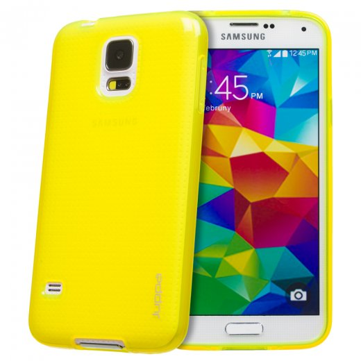 Juppa TPU Gel Case for Samsung Galaxy S5 Yellow
