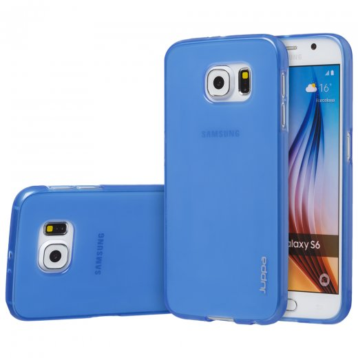 "Juppa TPU Gel Case for Samsung Galaxy S6 5.1"" Blue"