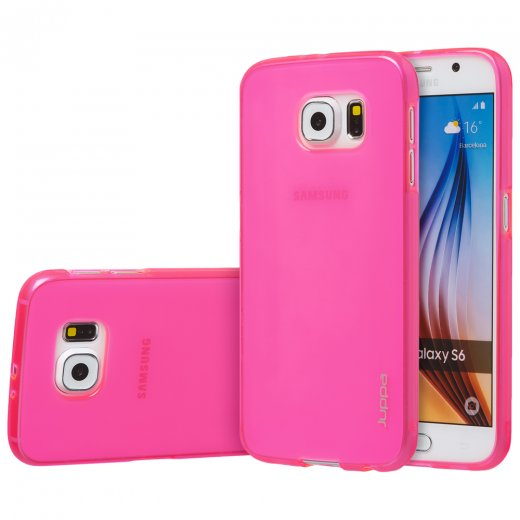 "Juppa TPU Gel Case for Samsung Galaxy S6 5.1"" Pink"
