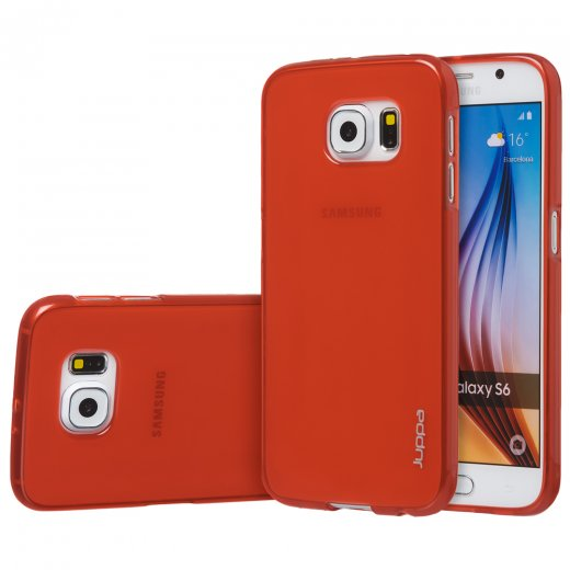 "Juppa TPU Gel Case for Samsung Galaxy S6 5.1"" Red"