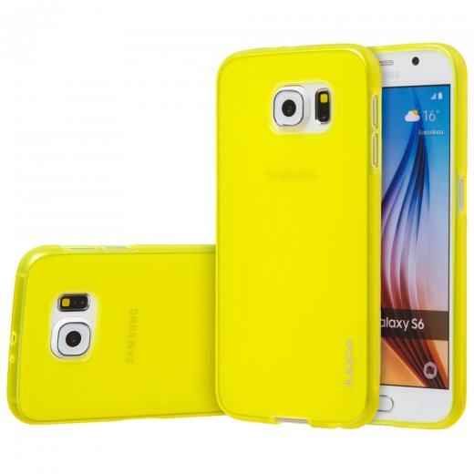 "Juppa TPU Gel Case for Samsung Galaxy S6 5.1"" Yellow"