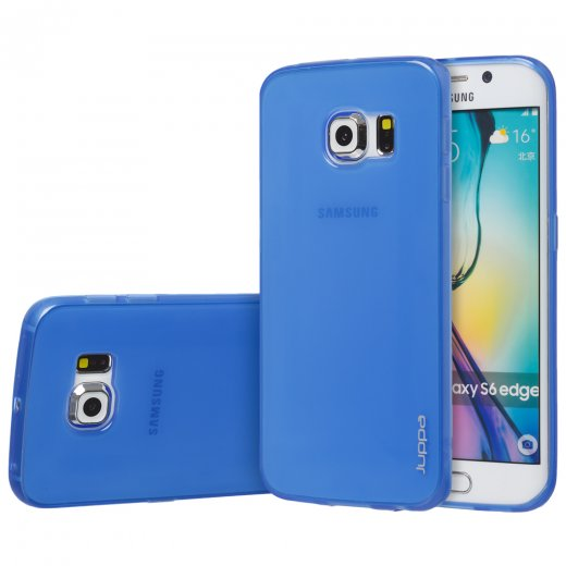 "Juppa TPU Gel Case for Samsung Galaxy S6 Edge 5.1"" Blue"