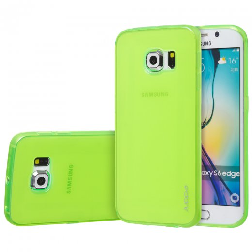 "Juppa TPU Gel Case for Samsung Galaxy S6 Edge 5.1"" Green"