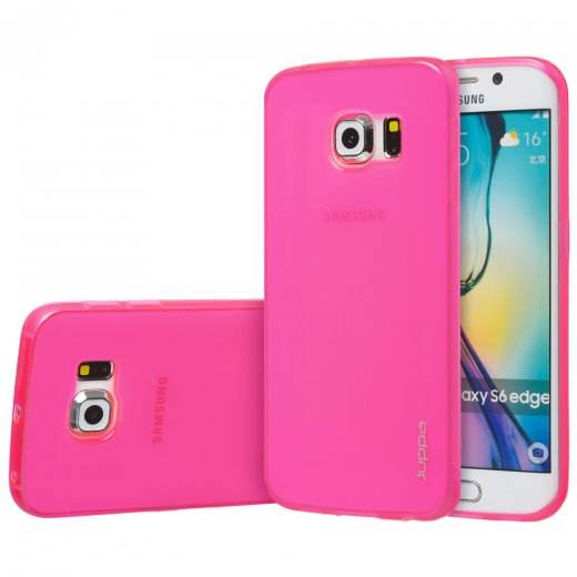 "Juppa TPU Gel Case for Samsung Galaxy S6 Edge 5.1"" Pink"
