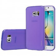 "TPU Gel Case for Samsung Galaxy S6 Edge 5.1"" Purple"