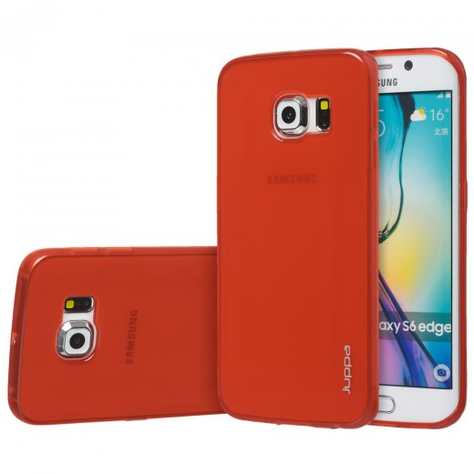 "Juppa TPU Gel Case for Samsung Galaxy S6 Edge 5.1"" Red"