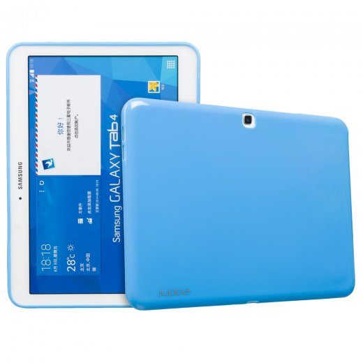 Juppa TPU Gel Case for Samsung Galaxy Tab 4 10.1 Blue