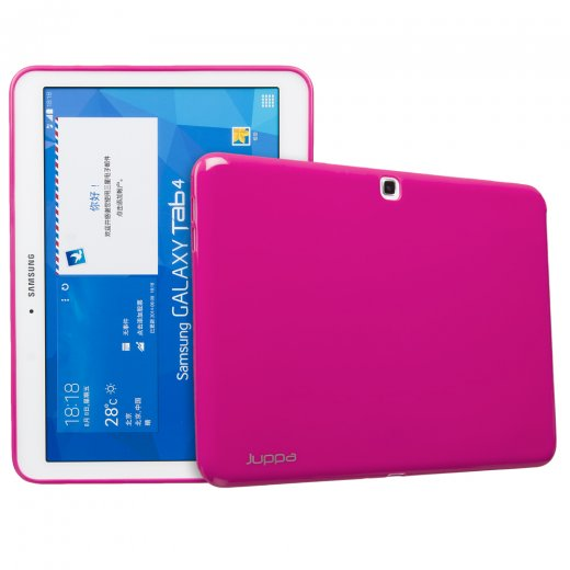 Juppa TPU Gel Case for Samsung Galaxy Tab 4 10.1 Pink
