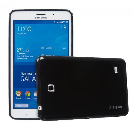 Juppa TPU Gel Case for Samsung Galaxy Tab 4 7.0 Black