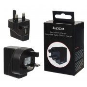 Universal 1 Amp USB Mains Charger Adapter Black