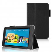 Multi-Function Leather Stand Case for Amazon Kindle HD 6 Inch Black