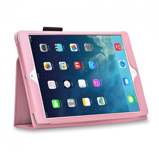 Multi-Function Leather Stand Case for Apple Ipad Air 1st Gen - Baby Pink
