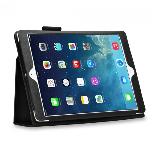 Multi-Function Leather Stand Case for Apple Ipad Air 1st Gen - Black