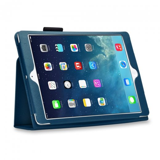 Multi-Function Leather Stand Case for Apple Ipad Air 1st Gen - Blue