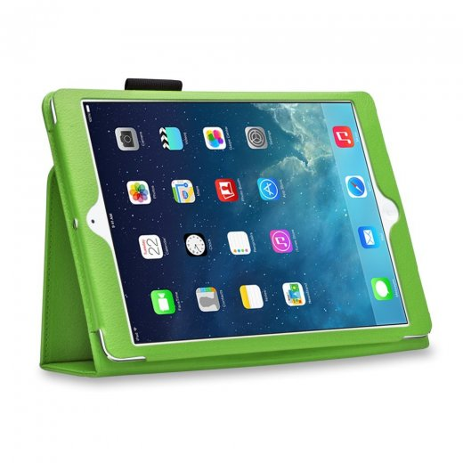 Multi-Function Leather Stand Case for Apple Ipad Air 1st Gen - Green