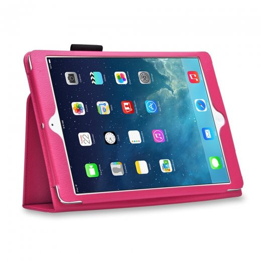 Multi-Function Leather Stand Case for Apple Ipad Air 1st Gen - Pink