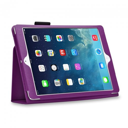 Multi-Function Leather Stand Case for Apple Ipad Air 1st Gen - Purple