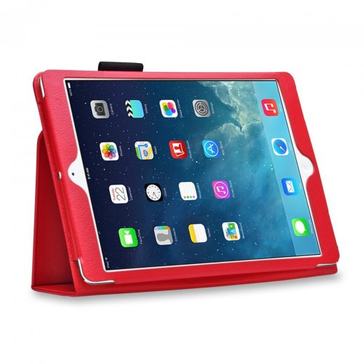 Multi-Function Leather Stand Case for Apple Ipad Air 1st Gen - Red