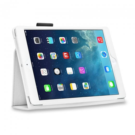 Multi-Function Leather Stand Case for Apple Ipad Air 1st Gen - White
