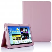 Multi-Function Leather Stand Case for Samsung Galaxy Tab 2 10.1 P5100 B.Pink