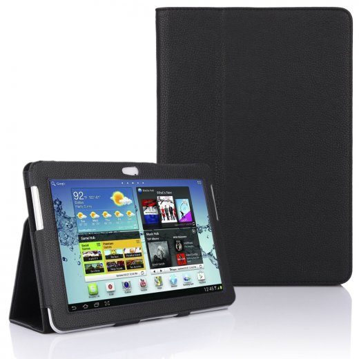 Multi-Function Leather Stand Case for Samsung Galaxy Tab 2 10.1 P5100 Black
