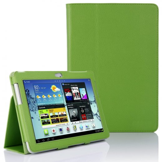 Multi-Function Leather Stand Case for Samsung Galaxy Tab 2 10.1 P5100 Green