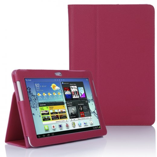 Multi-Function Leather Stand Case for Samsung Galaxy Tab 2 10.1 P5100 Pink