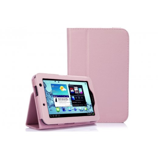 Multi-Function Leather Stand Case for Samsung Galaxy Tab 2 7.0 P3100 B.Pink