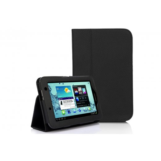 Multi-Function Leather Stand Case for Samsung Galaxy Tab 2 7.0 P3100 Black