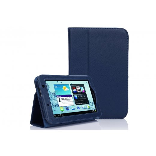 Multi-Function Leather Stand Case for Samsung Galaxy Tab 2 7.0 P3100 Blue