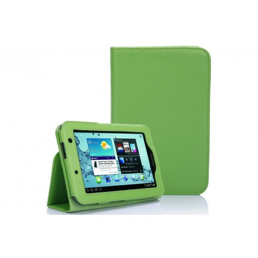 Multi-Function Leather Stand Case for Samsung Galaxy Tab 2 7.0 P3100 Green