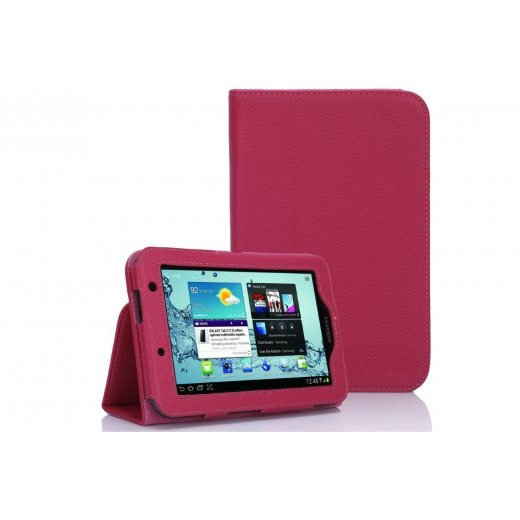 Multi-Function Leather Stand Case for Samsung Galaxy Tab 2 7.0 P3100 Pink