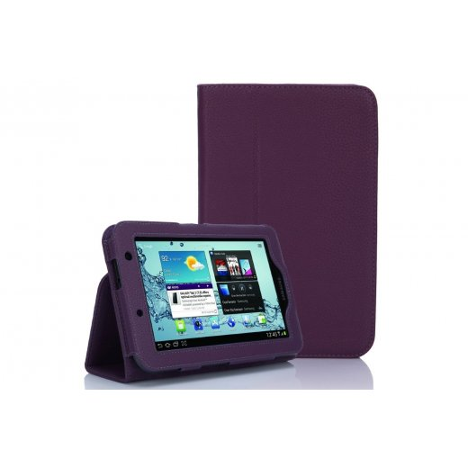 Multi-Function Leather Stand Case for Samsung Galaxy Tab 2 7.0 P3100 Purple